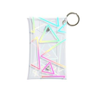 虹色のグラデーションの三角形 Mini Clear Multipurpose Case