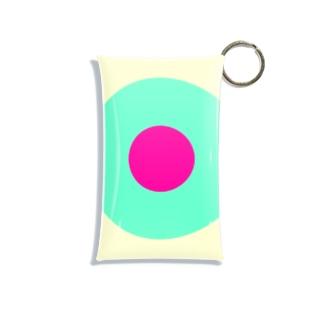 サークルa・クリーム・ペパーミント・ショッキングピンク2 Mini Clear Multipurpose Case
