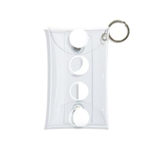 空色に映える月 Mini Clear Multipurpose Case