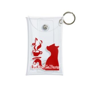 赤猫茶会ロゴ Mini Clear Multipurpose Case