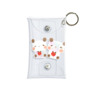 りんご🍎パンダ Mini Clear Multipurpose Case