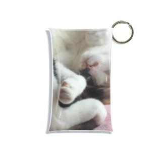 愛猫モモ Mini Clear Multipurpose Case