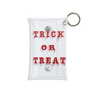 Bloody Trick or Treat Mini Clear Multipurpose Case
