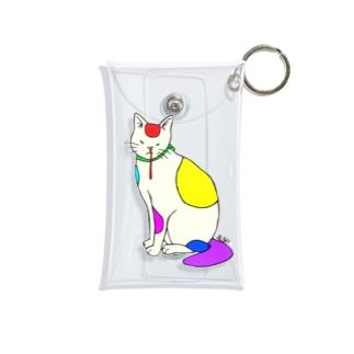 背筋良い猫 Mini Clear Multipurpose Case