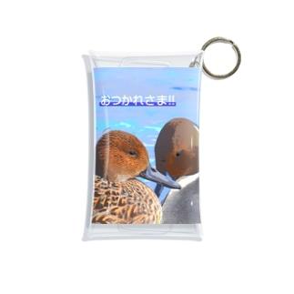 仲良しオナガガモ ~おつかれさま!!~ Mini Clear Multipurpose Case