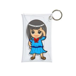 ちびキャラ/SCHOOLTYPE:青【一ノ瀬彩】 Mini Clear Multipurpose Case