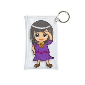 ちびキャラ/SCHOOLTYPE:紫【一ノ瀬彩】 Mini Clear Multipurpose Case