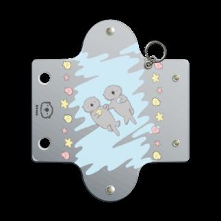 ぴーやまの手つなぎラッコ Mini Clear Multipurpose Case