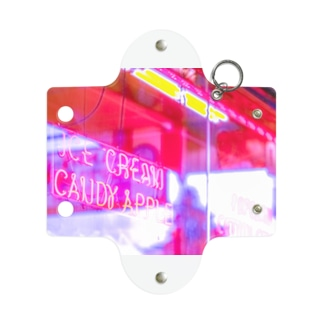neon candy apple 横 Mini Clear Multipurpose Case