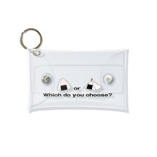 つりてらこグッズ(釣り好き&おもしろ系)のおにぎりとテントのケース小 Mini Clear Multipurpose Case