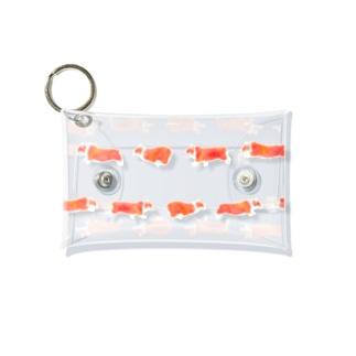 走る!コーギー Mini Clear Multipurpose Case