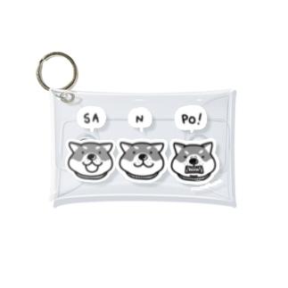 柴犬と一緒 Mini Clear Multipurpose Case