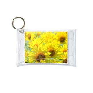 K-ioriの季節の花 ひまわり Mini Clear Multipurpose Case