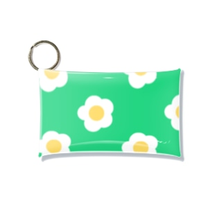 White Flower(グリーングリーン) Mini Clear Multipurpose Case