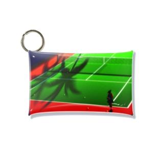 テニスコートとヤシの木 Mini Clear Multipurpose Case