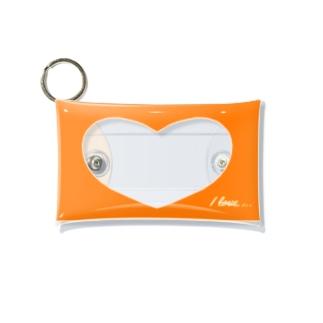 シンプル推しエコバッグケースオレンジ紅茶 Mini Clear Multipurpose Case