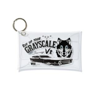 PoooompadoooourのGRAY SCALE Journey V8(Black and white) Mini Clear Multipurpose Case