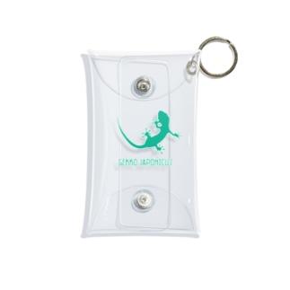 ヤモリ シルエット ロゴ  ( ターコイズグリーン ) Mini Clear Multipurpose Case