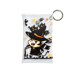 【期間限定】ハロウィンのアクマ&黒ネコ Mini Clear Multipurpose Case