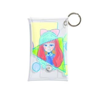 目つきはわるめ-sukesu case Mini Clear Multipurpose Case