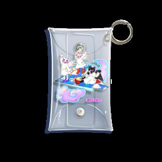Kifuyuの猫の天使紙飛行機 Mini Clear Multipurpose Case