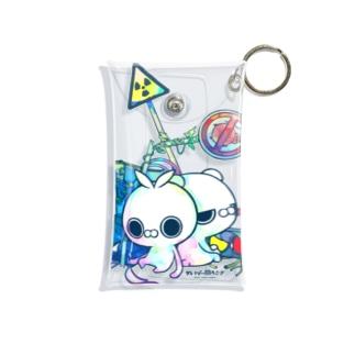クレイジー闇うさぎ(標識/カラー) Mini Clear Multipurpose Case