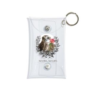 NO OWL, NO LIFE. Mini Clear Multipurpose Case