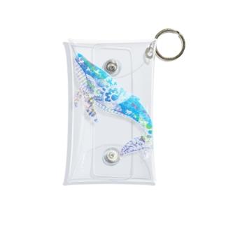 クジラの切り絵 Mini Clear Multipurpose Case