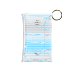 dizzyのBlue Stripes Mini Clear Multipurpose Case