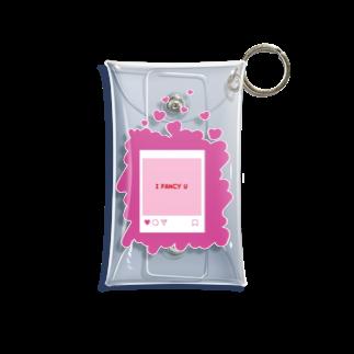 merf_design のi fancy u すき Mini Clear Multipurpose Case