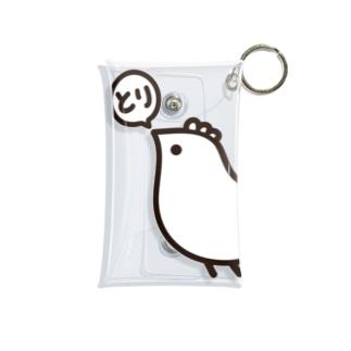 Cɐkeccooのよいものです-とりのつぶやき Mini Clear Multipurpose Case