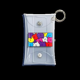 merf_design のギューギュークマ カラフル Mini Clear Multipurpose Case