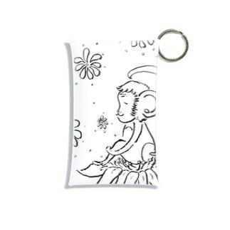 幸せの花とさる Mini Clear Multipurpose Case