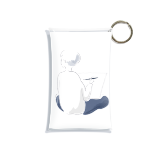 kokeshioの描くひと Mini Clear Multipurpose Case