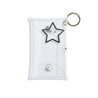KEN's BASEBALL FAN SHOP☆のほしさんほしくん モノクロ Mini Clear Multipurpose Case