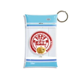 うさぎ牛乳「こぶくん」 Mini Clear Multipurpose Case