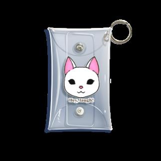 enu. のHey, laugh!(白猫) Mini Clear Multipurpose Case