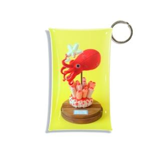 子蛸と毛ヒトデ Mini Clear Multipurpose Case