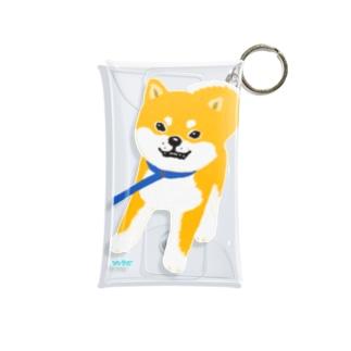 散歩拒否している柴犬 Mini Clear Multipurpose Case