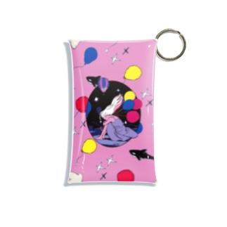 風船は夜をこえて_ピンク Mini Clear Multipurpose Case