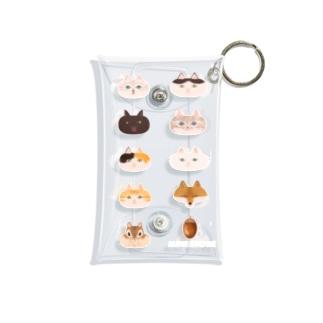 ふくふく猫と狐とリス Mini Clear Multipurpose Case