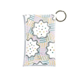 hk_illustration_pattern_223 Mini Clear Multipurpose Case