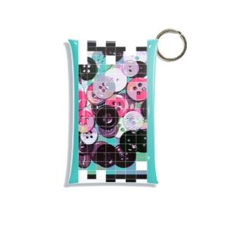 colorful button ミニケース Mini Clear Multipurpose Case