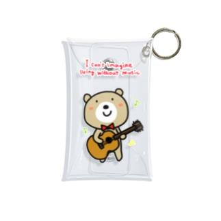 楽しく歌うくまきち Mini Clear Multipurpose Case