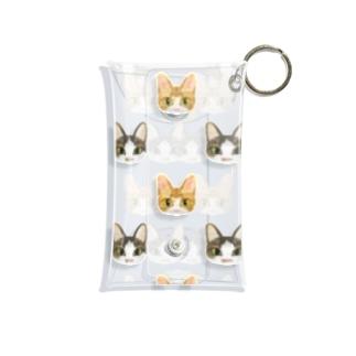 猫0525パターン Mini Clear Multipurpose Case