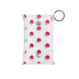 りんごちゃん模様 Mini Clear Multipurpose Case