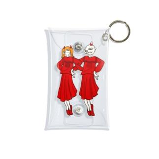 巷の赤の2人の子 Mini Clear Multipurpose Case