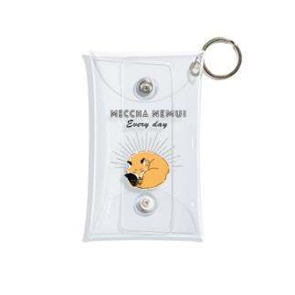MECCHA NEMUI きつね Mini Clear Multipurpose Case