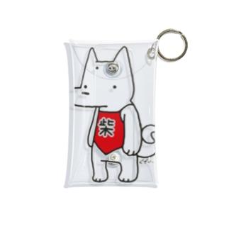 前掛け柴犬 Mini Clear Multipurpose Case