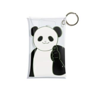 元気なパンダ Mini Clear Multipurpose Case